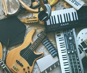 guitar, music, and instruments image