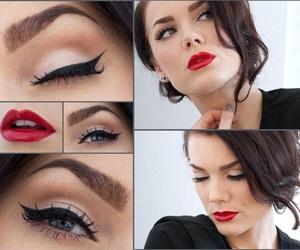 beauty, eye, and lips image