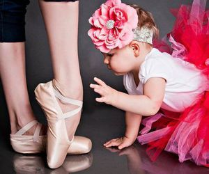baby, ballet, and ballerina image