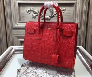 crocodile skin sac dejour and ysl sac dejour purse image