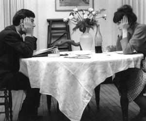 anna karina, black and white, and couple image