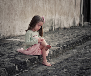 alone, street, and child image