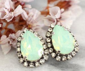 bridal jewelry, diamond, and etsy image