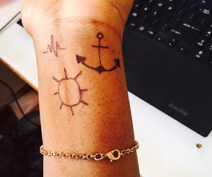 anchor, heartbeat, and sun image