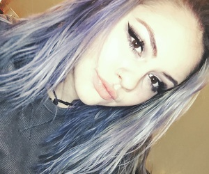 eyebrows, eyeliner, and lavendar image