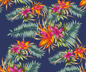floral, flowers, and hawaiian image