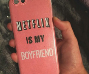 case, netflix, and pink image