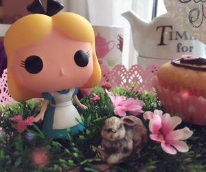 alice in wonderland, rabbit, and tea party image