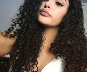 girl, beautiful, and curly hair image