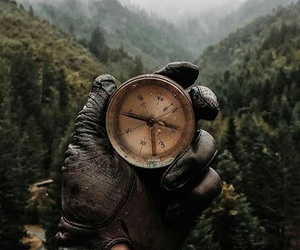 compass and nature image