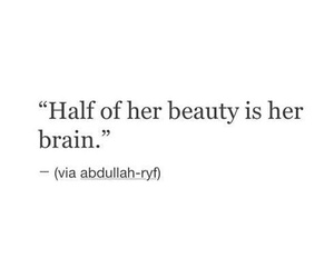 quotes, beauty, and brain image