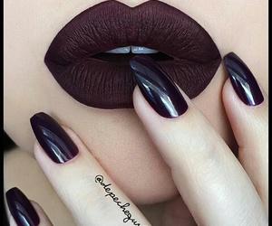 lips, nails, and lipstick image
