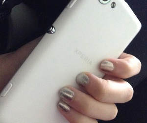 cellphone, nails, and silver image