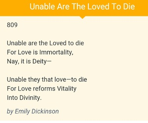 emily dickinson, Immortality, and love image