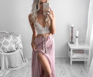 accessories, blonde, and brunette image
