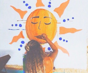 sun, summer, and girl image