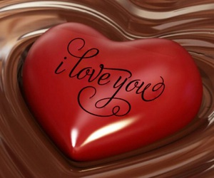 chocolate, heart, and I Love You image