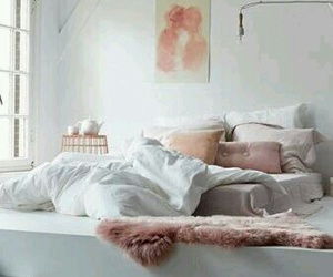 bedroom, peach, and interior design image