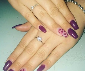 nails, nice, and purple image