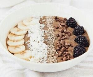food, chocolate, and banana image