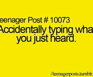 typing, teenager post, and funny image