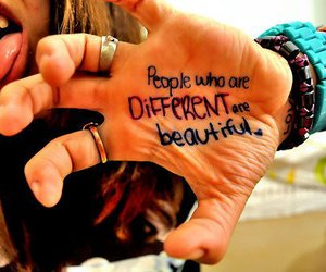 beautiful, different, and people image