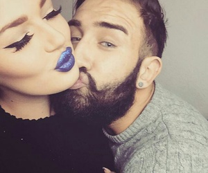 couple, happiness, and lips image
