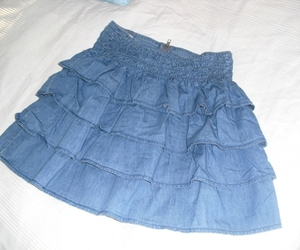 jeans, skirt, and ruffles image