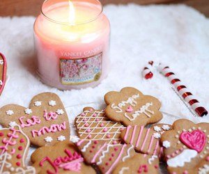 biscuit, candle, and christmas image