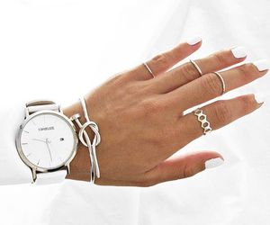 watch, white, and rings image