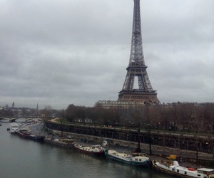 boats, clouds, and la Seine image