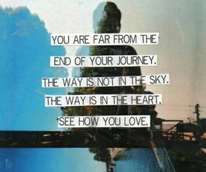 quote, journey, and sky image
