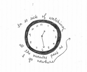clock, time, and quote image