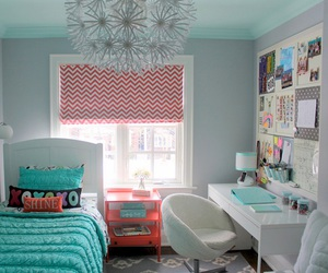 room, bedroom, and blue image