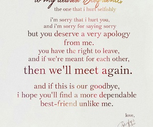 apology, farewell, and quote image