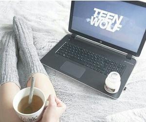 tea, teen wolf, and coffee image