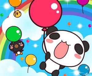 kawaii, rainbow, and friends image