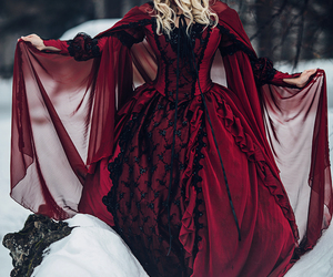 dress, fantasy, and red image