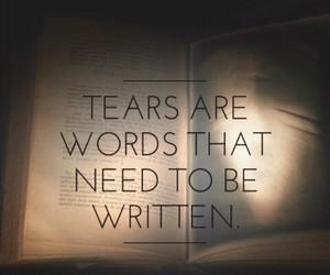 sad, tears, and text image