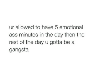 emotional, gangsta, and quote image