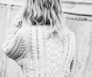 hair, sweater, and style image
