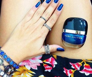 blue nails, marc jacobs, and nail image