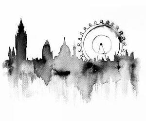 london, art, and city image