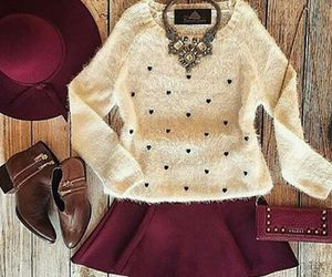look, sweater, and boots image