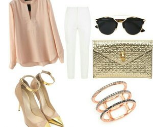 chic, class, and pink gold image