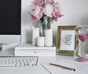 flowers, decor, and pink image