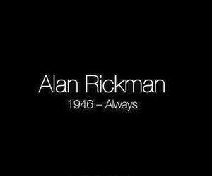 alan rickman, harry potter, and always image