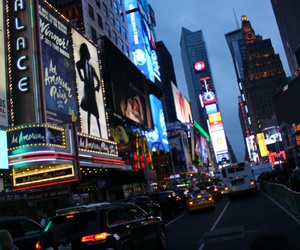 broadway, city, and lights image