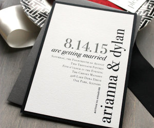 black and white, etsy, and red wedding image