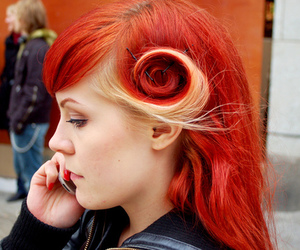 fuck yeah, hair, and red nails image